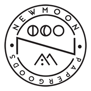 New Moon Paper Goods Shop Logo