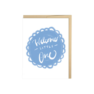 Welcome Little One - Soft Blue