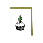Happy Birthday - Cactus Cupcake