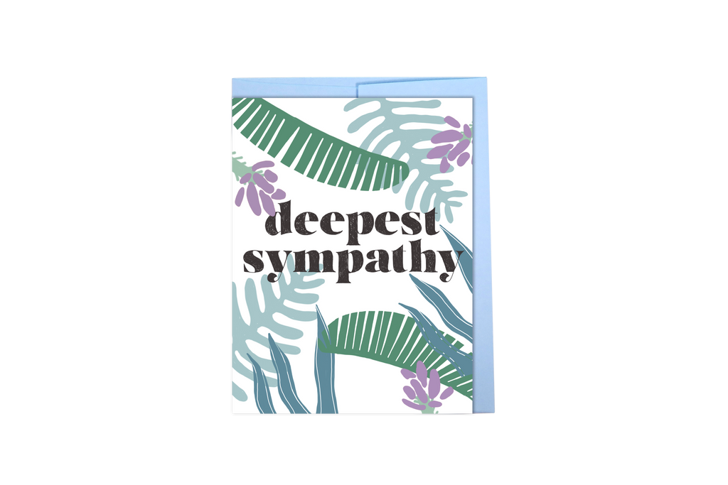 Deepest Sympathy - tropical