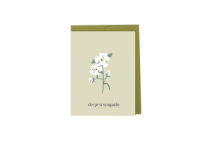 Deepest Sympathy - Hand Illustrated Flower