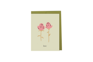 Love - Hand Illustrated Flower