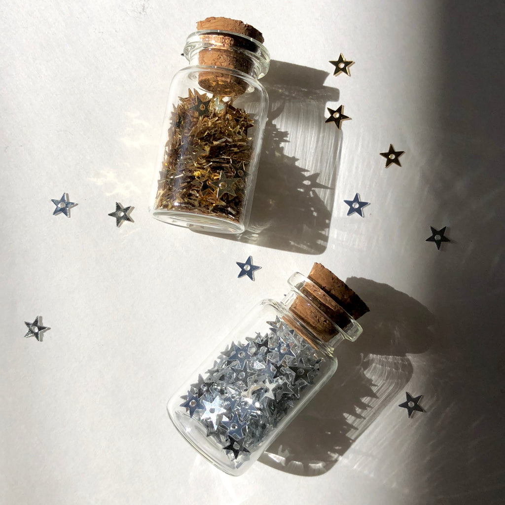 Mini Jars Full of Stars - Gold or Silver