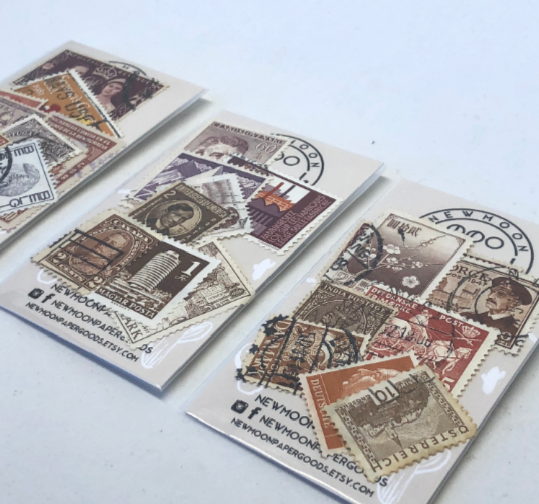 Set of 8 Vintage Foreign Postage Stamps