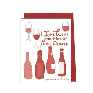 Wine Friends- Friendship Card