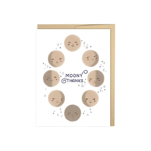 Moony Thanks, Moon Card, Many Thank You Card, Thank you Card, Astrology Card, Moon Phase,