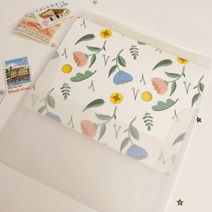 Floral Card with Vellum Envelope