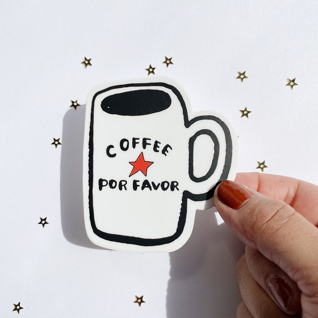 Coffee Por Favor - Vinyl Sticker