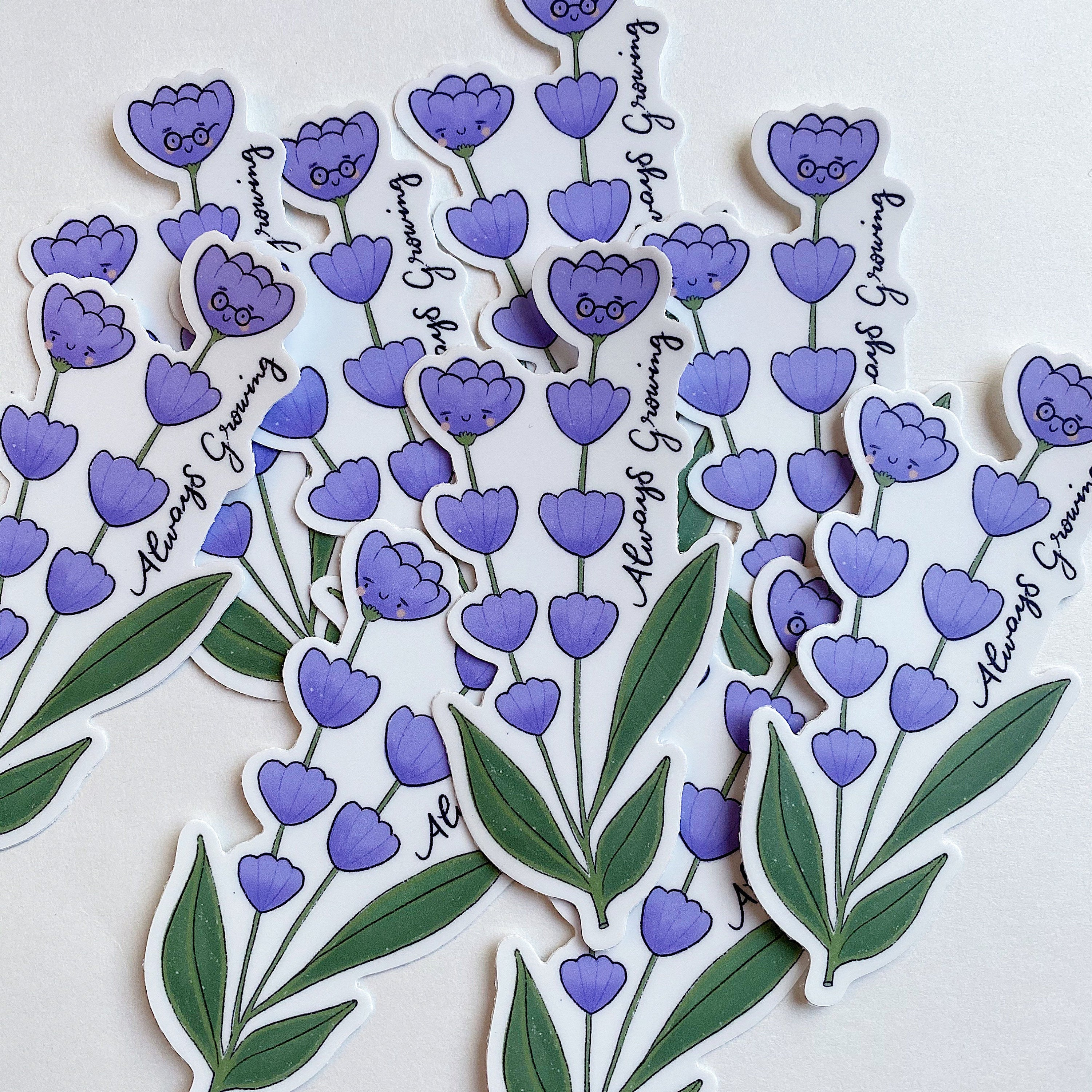 Always Growing Flower-Vinyl Sticker