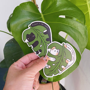 Cat + Plant Lady (Black Cat) - Vinyl Sticker