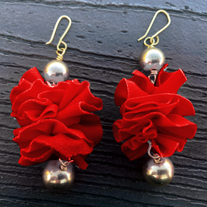 Red Earrings by Bonita Costura