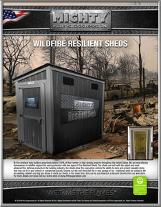 Wildfire Resilient Shed