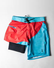 Wetsuit-Lined Boardshorts Men's Bottom Turn Blue | Drifties