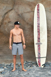 Mens Boardshorts Wetsuit Lined Surf Shorts Drifties Spindrift White