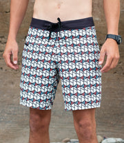 Wetsuit-Lined Boardshorts Men's Spindrift White | Drifties