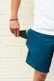 mens boardshorts surf shorts a-frame blue driftline
