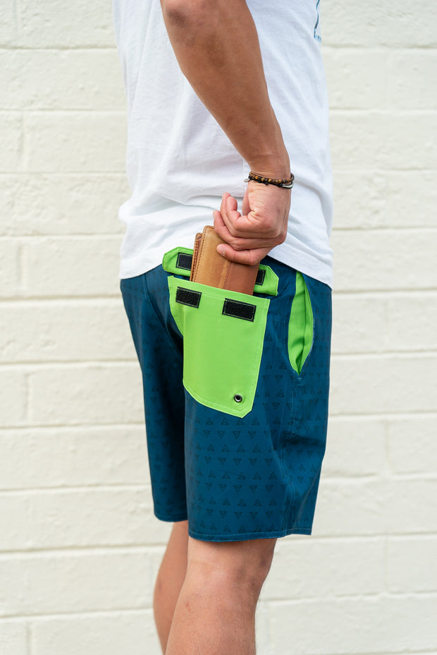 Session Boardshorts – A-Frame Blue