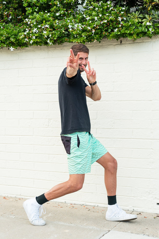 Session Boardshorts – Seafoam Green