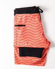 Mens Boardshorts Wetsuit Lined Surf Shorts Drifties Living Coral