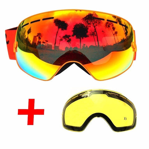 22adae874704 50% OFF-COPOZZ Ski Goggles Double Layers UV400 Anti-fog Big Ski Mask ...