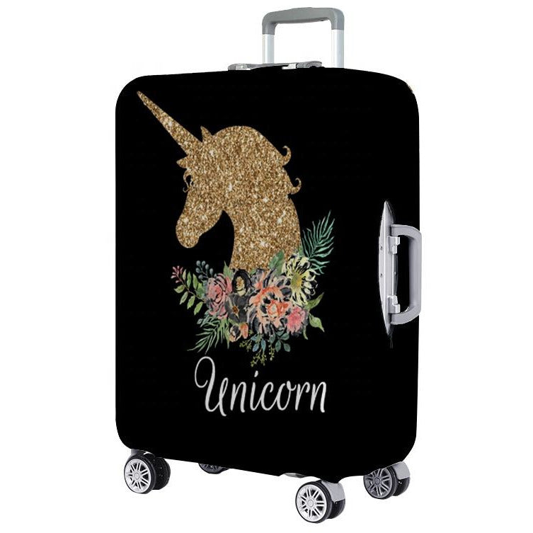 Golden Unicorn Printed Luggage Protector Cover
