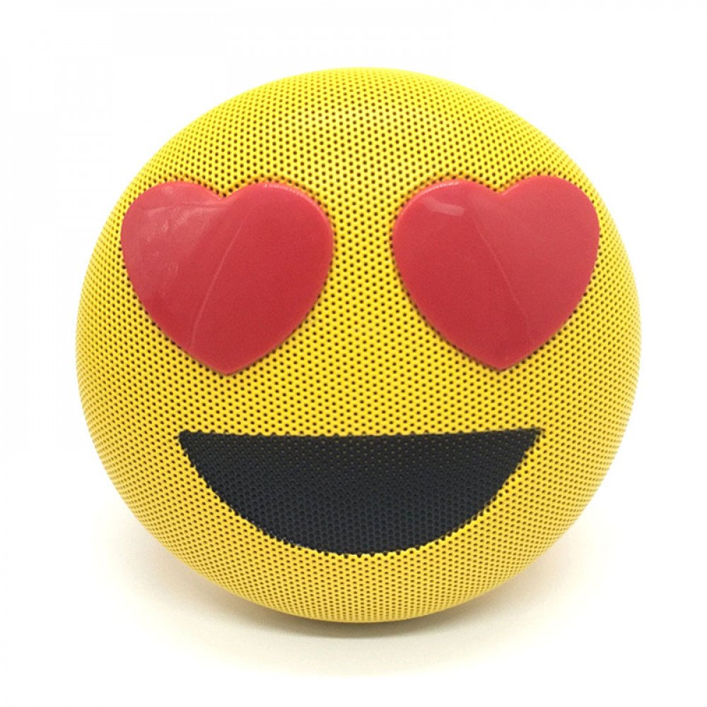 Emoji Loud Sound Portable Bluetooth Speaker with Strap and USB Slot