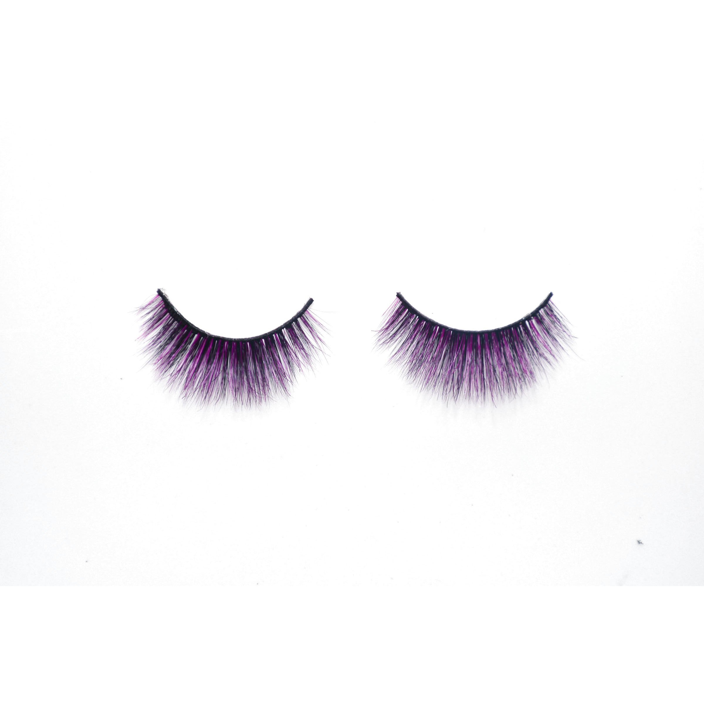 Karib dolls Real 3D Mink Lashes Black/Purple (Dawn)