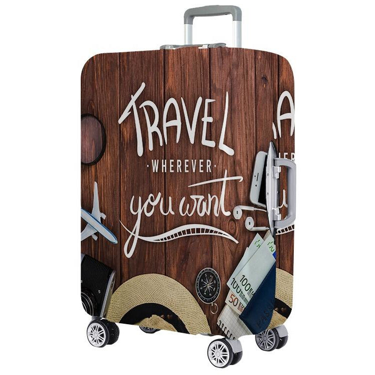 Travel Whenever You Want Luggage Protector Cover