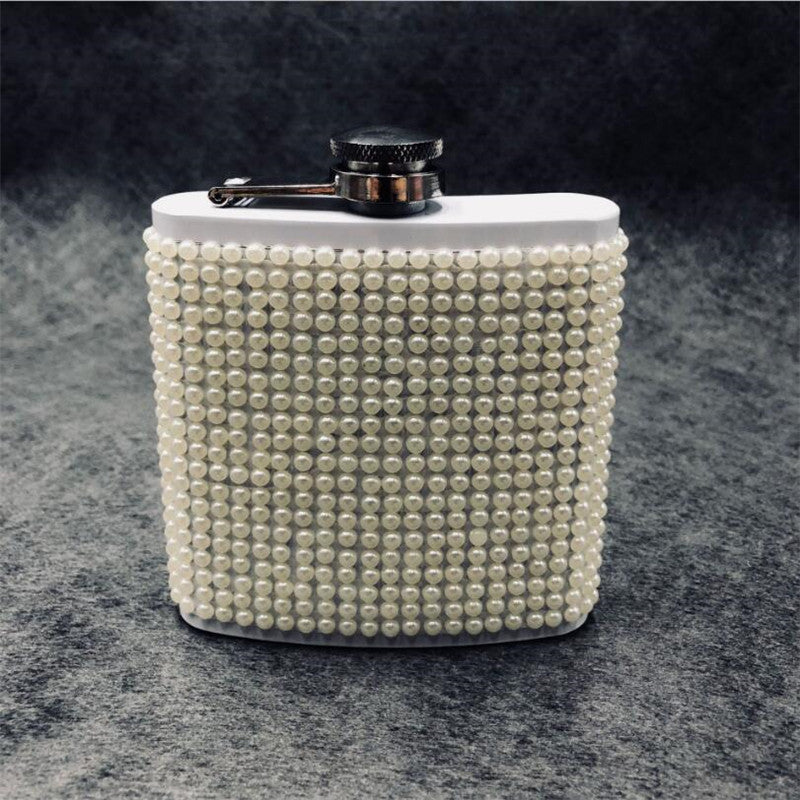 Glitter and Glitz Stainless Steel Hip Flask