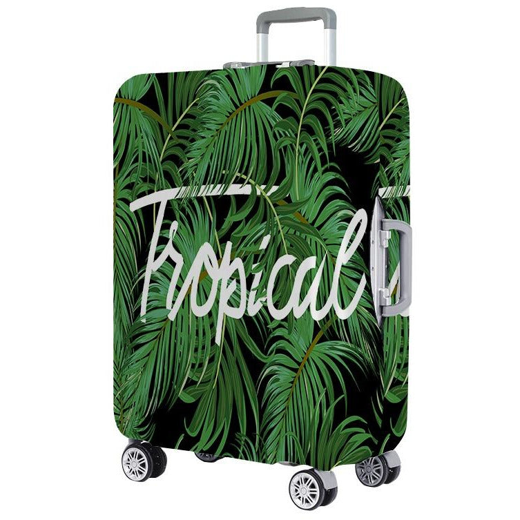 Tropical Hawaiian Plumeria Hibiscus Flowers Spandex Travel Luggage Cover