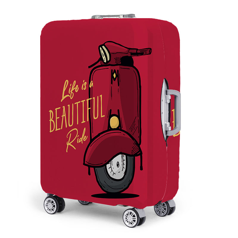 Life Is A Beautiful Ride Travel Luggage Suitcase Cover