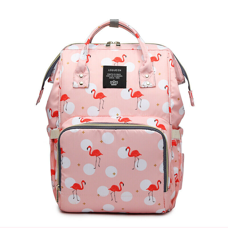 Lequeen Mommy Maternity Diaper Bag Large Backpack with Stroller Hook