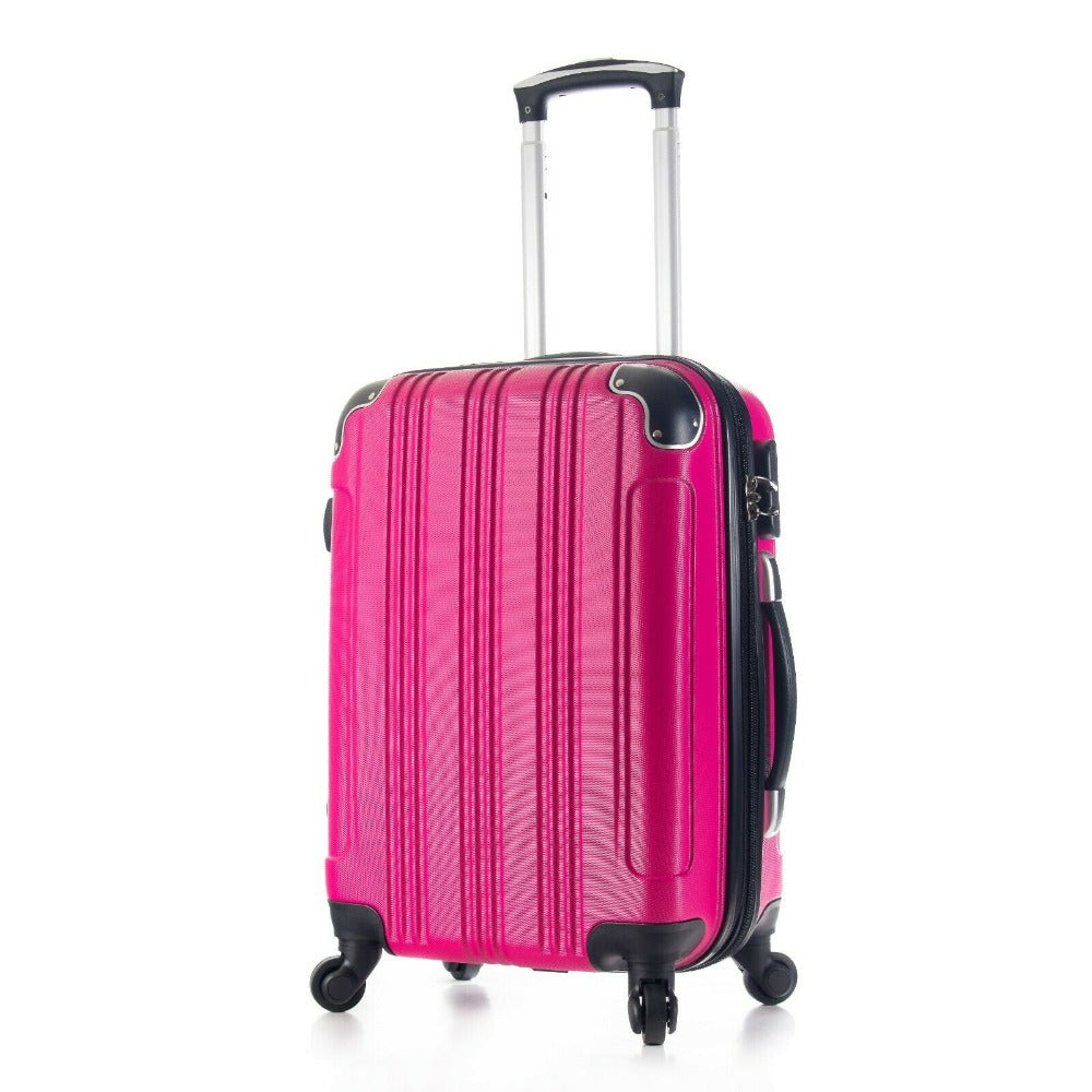 Carry On Luggage 4  Wheels Spinner Lightweight Expandable