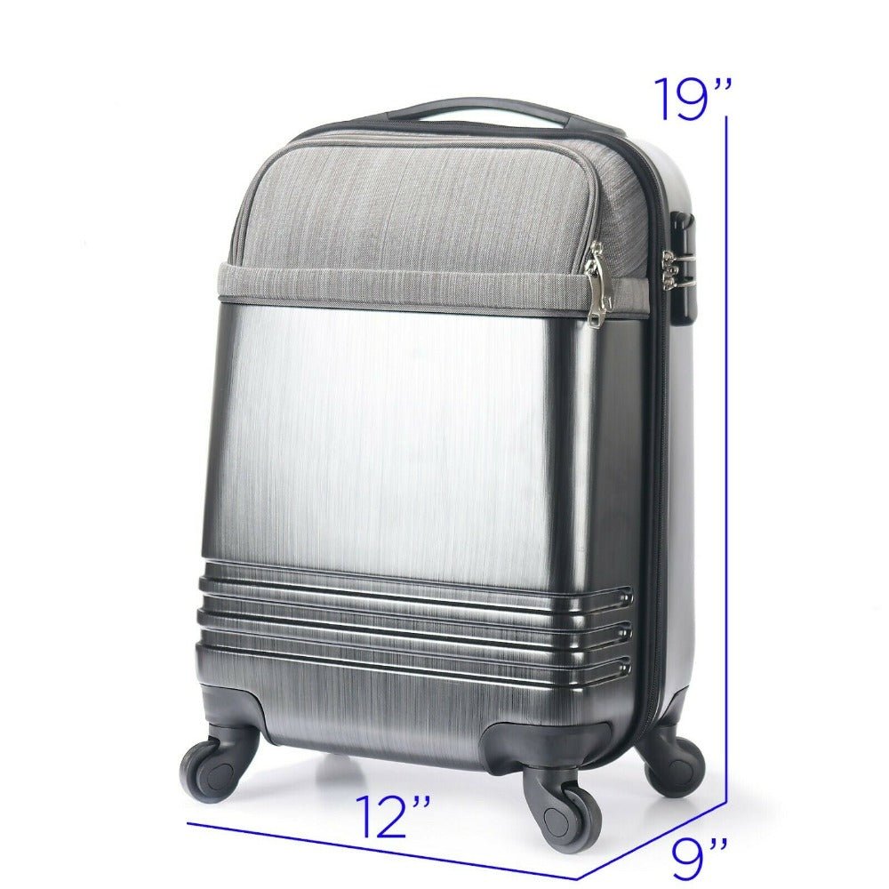 Carry On Travel Luggage Lightweight Rolling Spinner w/ Laptop Tablet Compartent