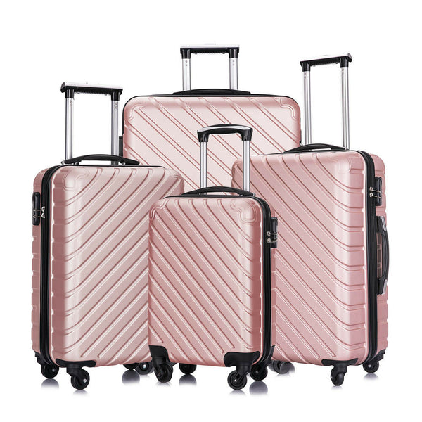4 Piece Travel Luggage Set Lightweight Suitcase Spinner Hardshell Business Case