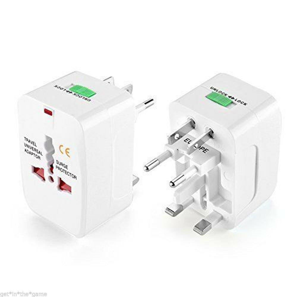 International World Travel Adapter, Worldwide AC Charger (UK/EU/AU/CN)