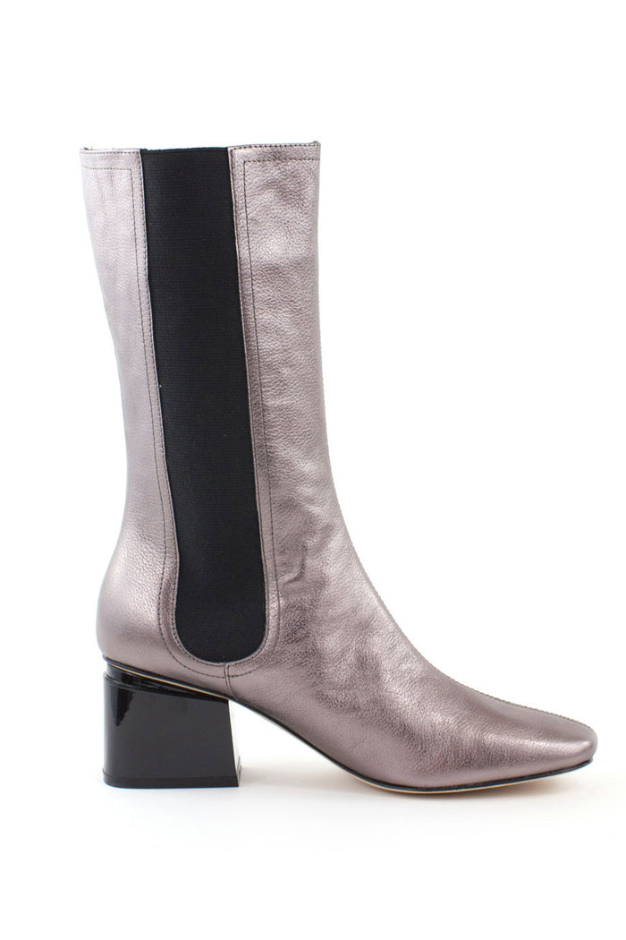 03c1fccb0 Eartha Pewter Leather Bootie - 7
