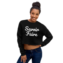 Load image into Gallery viewer, Savoir Faire Crop Sweatshirt