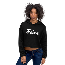 Load image into Gallery viewer, Savoir Faire Cropped Hoodie