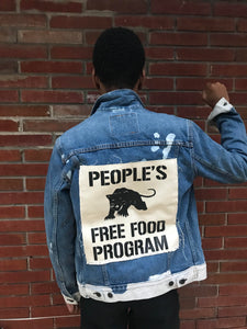 Peoples Free Food Program Denim (Customizable Made to Order)