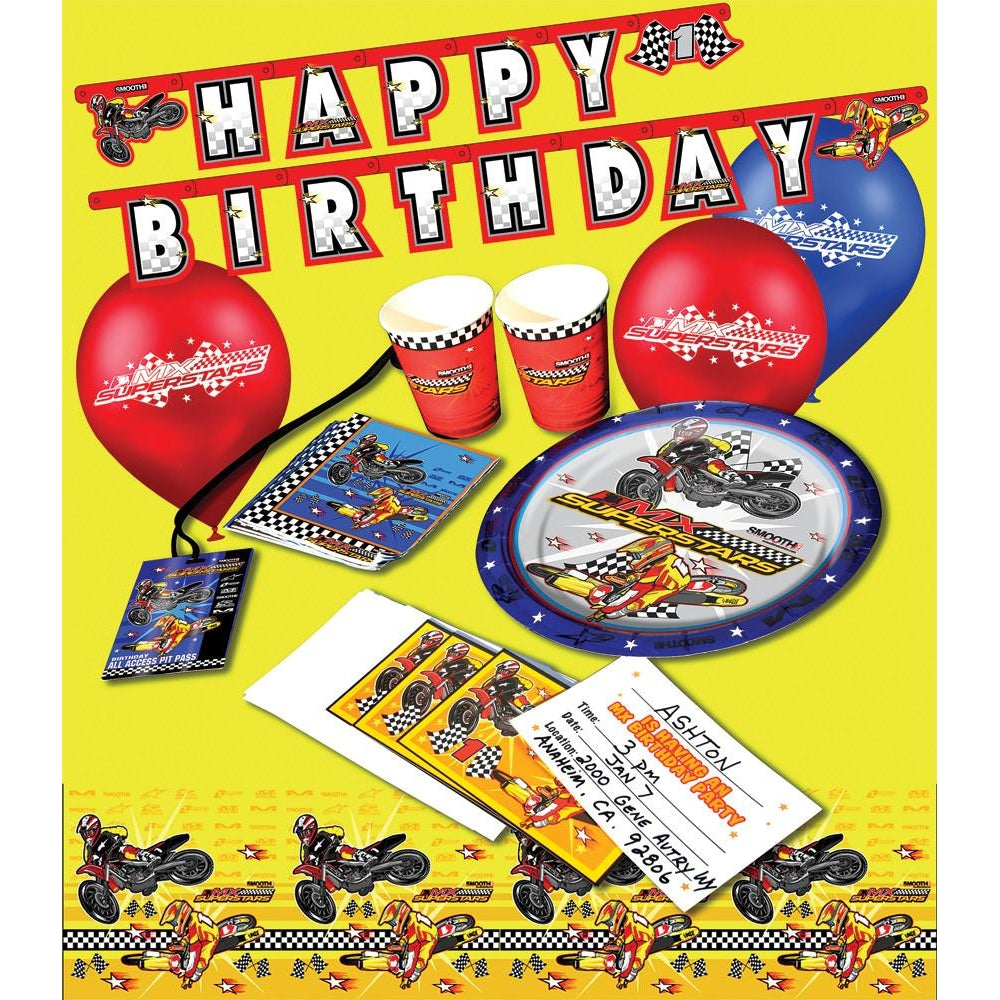 Smooth Industries MX Birthday Party Invitations 10 PK
