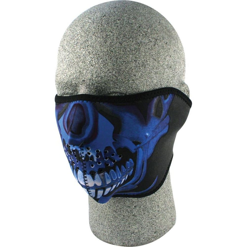 Half Face Mask Blue Chrome Sku Ll
