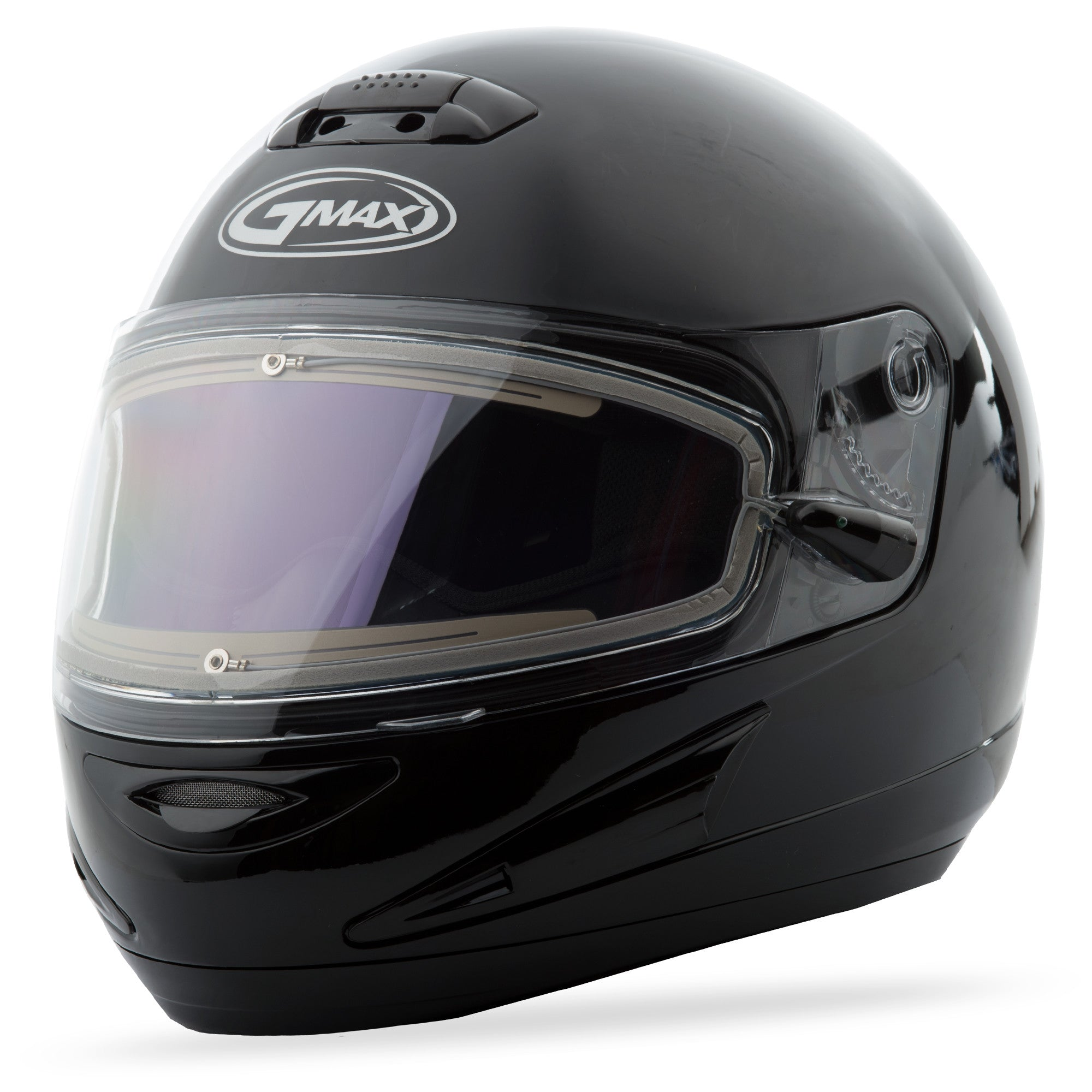Gm38S Helmet Black W/Electric Shield L