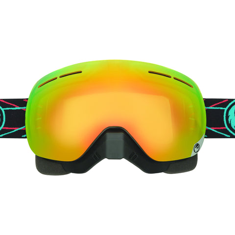 X1S Snow Pinned Goggles w/Yellow Red Lens + Extra Yellow Red Ion Lens