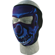 Full Face Mask (Blue Chrome Skull)
