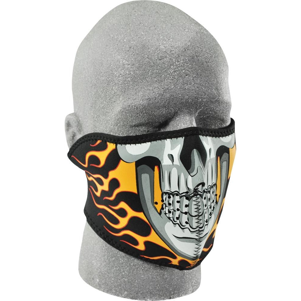 Half Face Mask (Burning Skull)