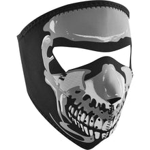 Full Face Mask Glow-In-Dark Skull - Small Face