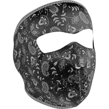 Neoprene Full Mask Dark Paisley