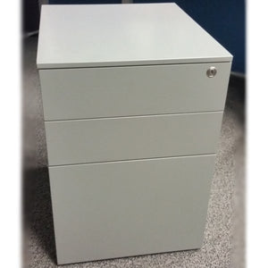 Metal Mobile Pedestal Precious Silver - Cheap Office Furniture Sydney