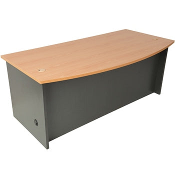 Pinnacle Bow Front Desk - Cheap Office Furniture Sydney